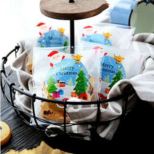 50Pcs New Halloween Christmas Cello Party Favour Candy Treat Biscuit Gift Bags