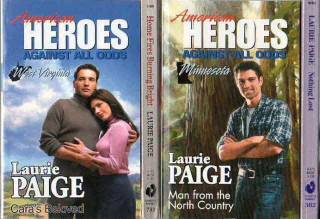 4 LAURIE PAIGE=CARA'S BELOVED+ HOME FIRES BURNING BRIGHT+MAN FROM NORTH COUNTRY+