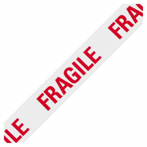 12 Rolls 48mm x 66m Fragile Parcel//Packing TapeWhite//Red//Carton//Handle//Care