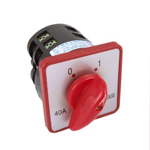 7,5 W 40 a Rotary Cam 8 Terminales De Tornillo 2 posición combinación Interruptor