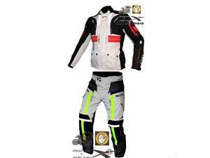 Completo-pantalone-giacca-moto-MDM-race-triplo-strato-touring-impermeabile-gt-5XL