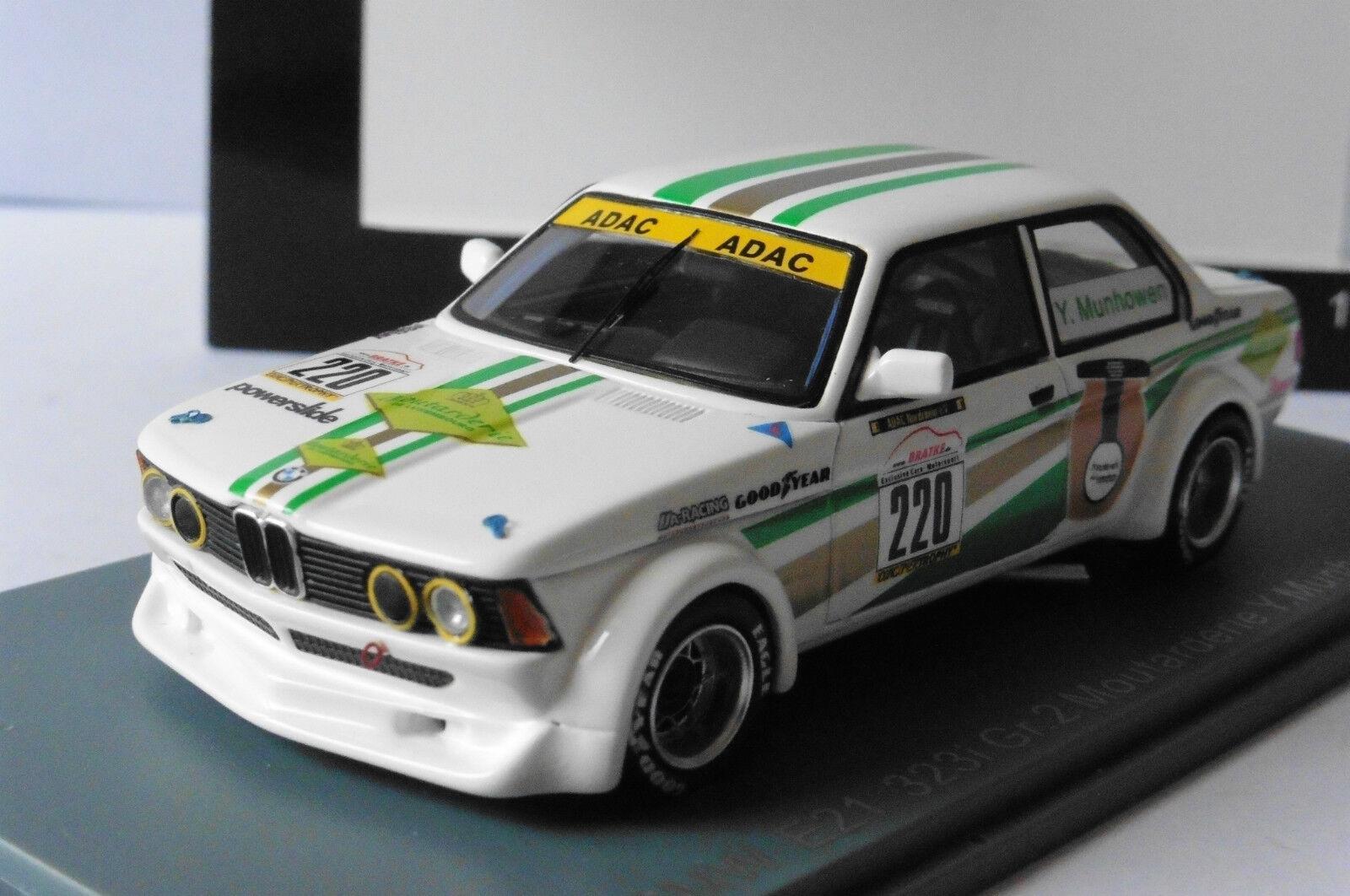 BMW 323I E21 #220 GR.2 MOUTARDERIE MUNHOWEN NEO 45224 1/43 ADAC GOODYEAR SPORT