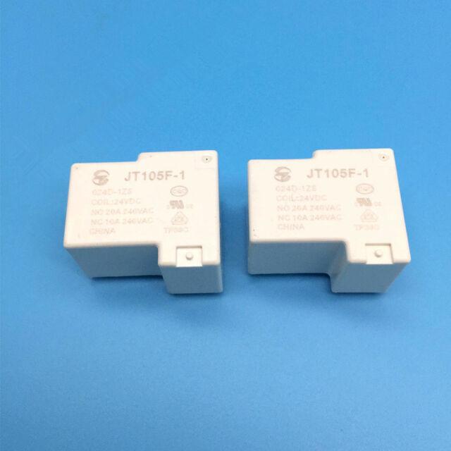 JT105F-1//024D-1HS Power Relay 30A 24VDC 4 Pins x 2PCS NEW