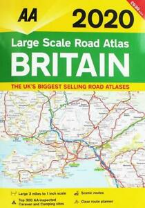 AA-Large-Scale-Road-Atlas-Britain-2020-Road-Map-A3-Brand-New