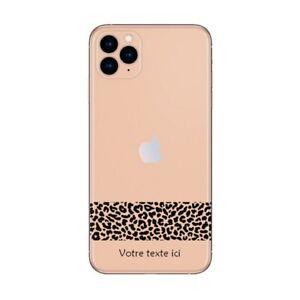 Coque Iphone 12 PRO MAX dentelle leopard noir personnalisee