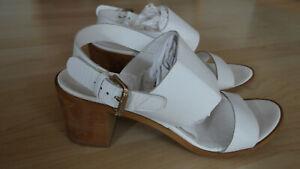Details zu Weiße Sandaletten Sandalen Gr. 39 von Zign Leder