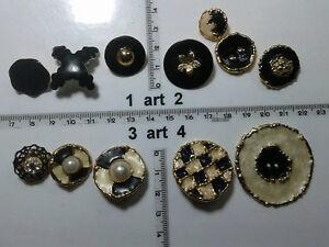 1-lotto-bottoni-gioiello-strass-smalti-perle-vetro-buttons-boutons-vintage-g11