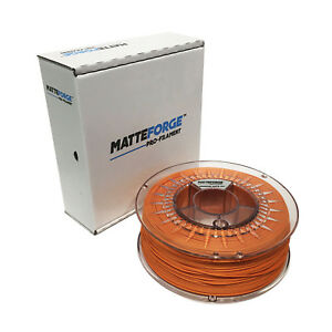 Matteforge : Advanced Matte Pla 3d Printer Filament Yet Not Vulgar 1kg 2.85mm Orange