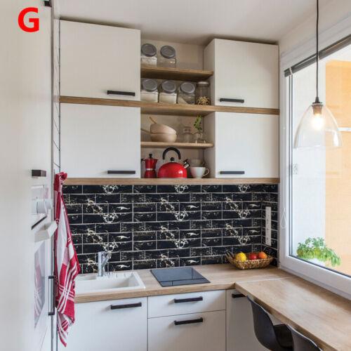 9Pcs selbstklebend 9pcs Fliesen Wandaufkleber Badezimmer Küche 3DMosaikaufkleber