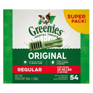 Greenies Regular Dental Dog Treats. Medium size. Various pack