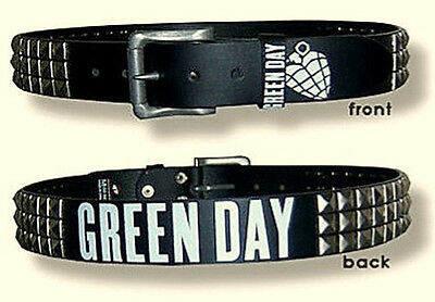 "GREEN DAY STUDDED BELT ""White Grenade"" Authentic Licensed NEW"