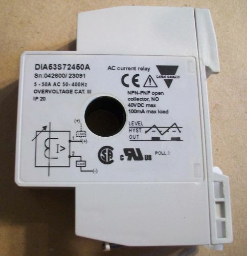 Carlo Gavazzi AC Current Relay DIA53S72450A