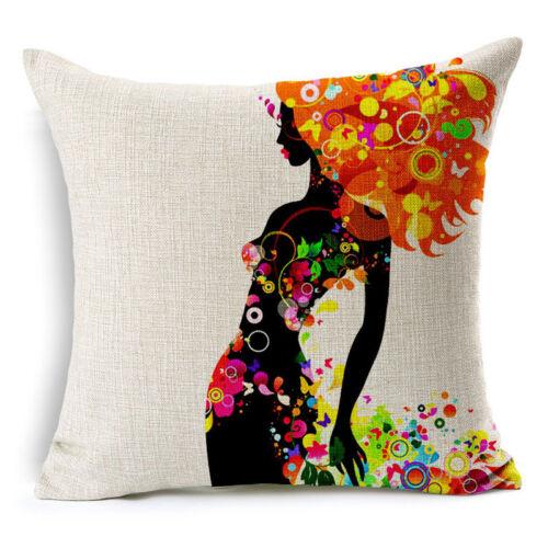 Cartoon Cute Pattern Cotton Linen Taie d/'oreiller Housse de coussin Home Decor
