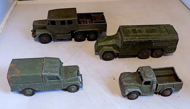 Vintage Diecast Military Vehicles x 4, Dinky & Corgi Toys, Some As Found.