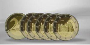 ALLEMAGNE 2 Euro BASSE-SAXE EGLISE ST-MICHEL HILDESHEIM 2014 x 5 Ateliers