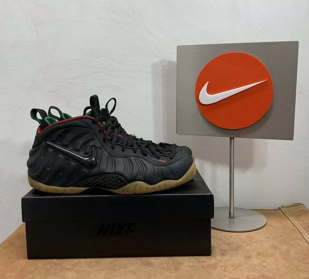 Nike Foamposite Pro Black Gorge Green Men's 12