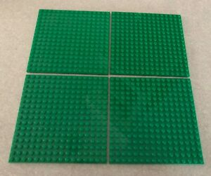 "LEGO Lot of 4 Base plates DARK BLUISH GRAY 16x16 dot 5/""x5/"" square base plate"