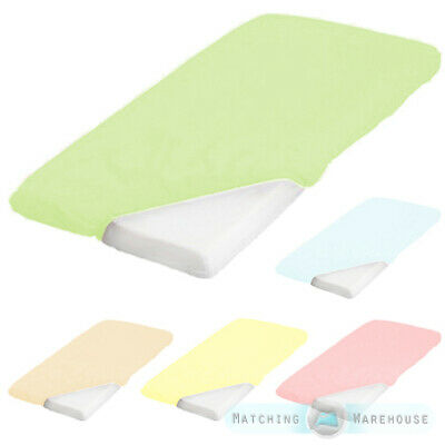 Childrens Pure 100/% Cotton Cot Size Light Blue Fitted Sheet 60cm x 120cm