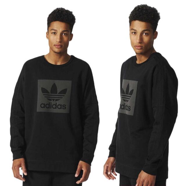 Adidas Originals Trefoil Street Crew Neck Men's Sweatshirt Sweater Jumper Black