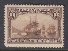 Canadá: 1908 Quebec tricentenario de 20c Marrón Mate SG195 Como Nuevo