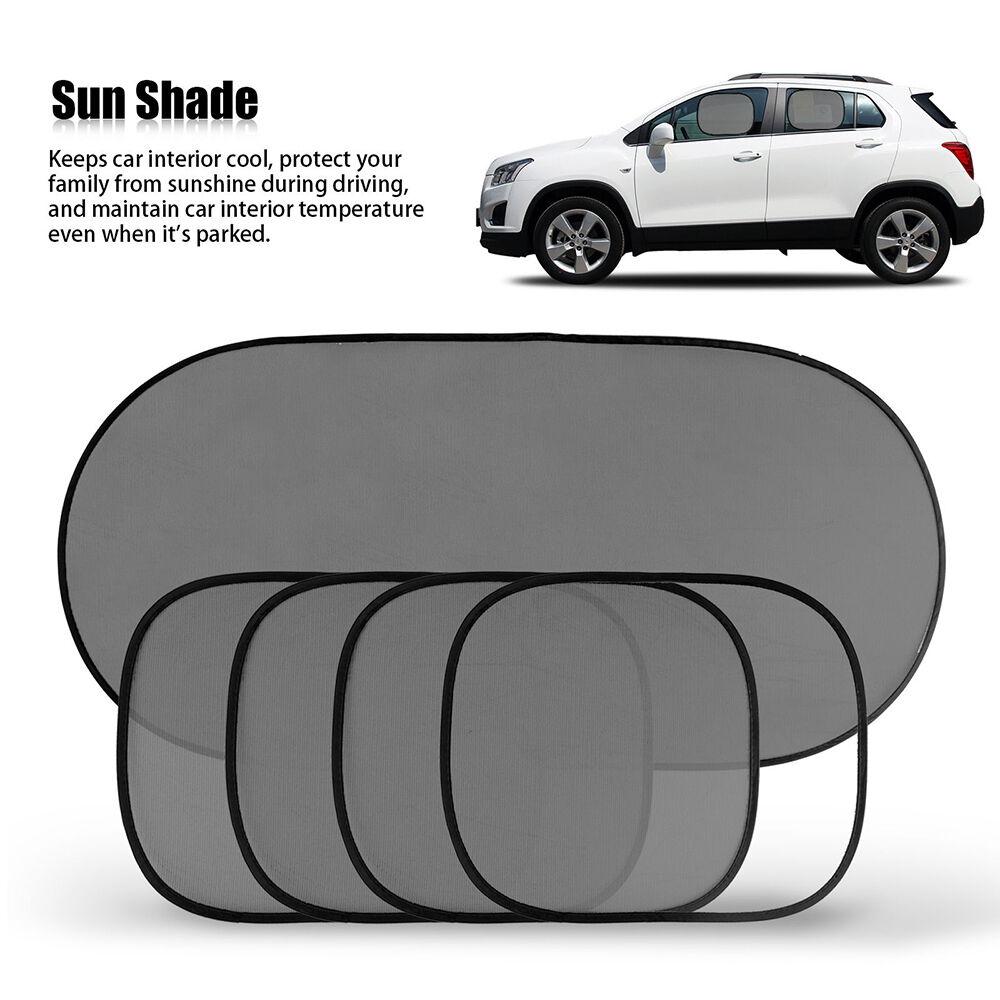 5pcs car side rear window screen sunshade cover visor mesh shield uv protection ebay. Black Bedroom Furniture Sets. Home Design Ideas