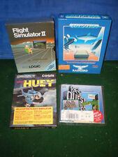 Lot 4 COMMODORE 64 128 Computer Games STARGLIDER HUEY BC's QUEST FLIGHT SIMULATE