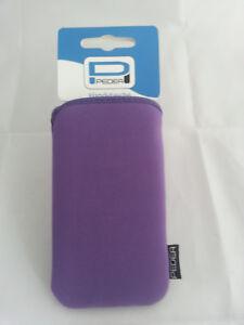 Pedea-NEOPRENO-Carcasa-Blanda-purpura-para-Smartphone-telefono-movil-talla-M
