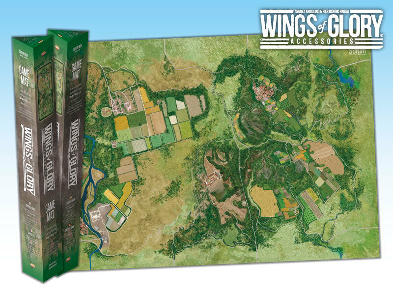 WINGS OF GLORY  GAME MAT - CITY WGA502B - SENT FIRST CLASS