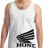 Honda Black Wing Tank Top T-shirt Motorcycle Racing Crf 250 450 600rr Trx Cbr