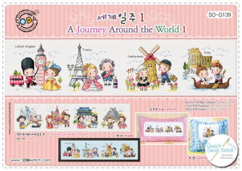 Un voyage autour du monde 1-Cross Stitch Pattern Ou Kit sodastitch SO-G139
