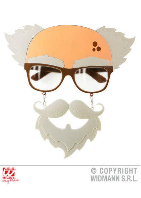 Funny Old Man Novelty Glasses with Beard
