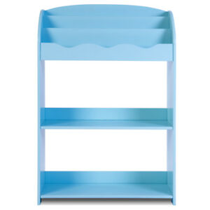 Kids-Storage-Shelf-With-Multifunction-Magazine-Display-Children-Bookcase-Rack-UK