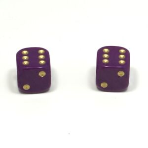 1-Pair-of-Purple-Gold-Spots-Dice-Dust-Caps-for-BMX-80-039-s-Retro-Valve-Caps