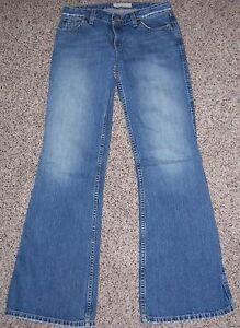 a04608b47d92f BKE Blue Denim Rail 22 Regular Low Rise Wide Leg Flared Jeans Size ...