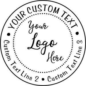 Details About Custom Logo Round Stamp Self Ink Rubber Personalized Stamps For Local Business