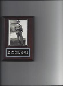 JOHN DILLINGER PLAQUE MAFIA ORGANIZED CRIME MOBSTER MOB RARE!!!