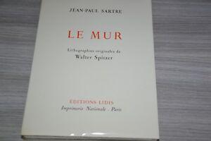 SARTRE-LE-MUR-LIDIS-LITHOGRAPHIES-ORIGINALES-DE-SPITZER-AVEC-SUITES-F5