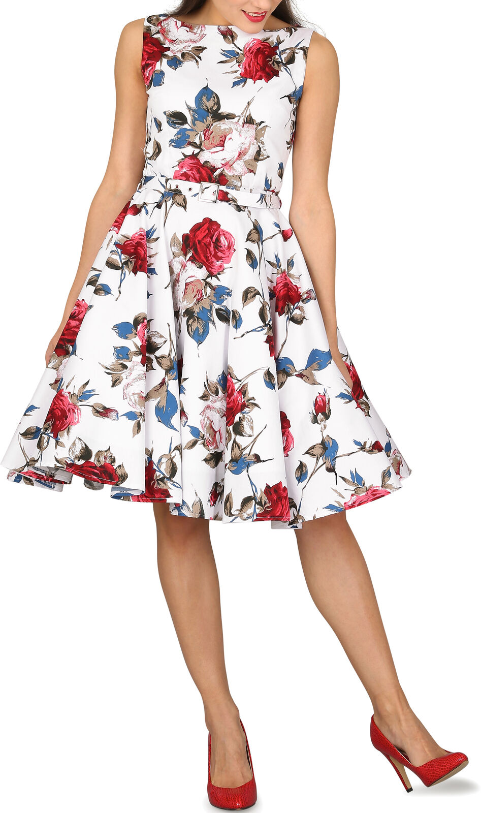 BEAUTIFUL Floral    AUDREY  VINTAGE Balia Vintage 50's Rockabilly Swing Prom Dress 905ddd