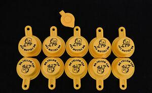 10X BLITZ Yellow Spout Caps for gas can spouts 900302 900092 900094 - FREE Vent!