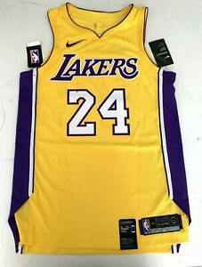 Details about Nike Los Angeles Lakers #24 Kobe Bryant Icon Edition Men Jersey NWT! also Patch