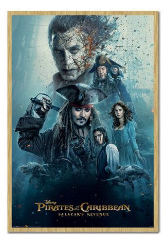 Gerahmt Piraten Der Karibik Salazars Revenge Poster Neu