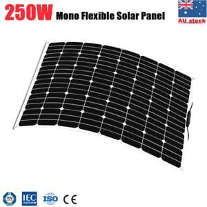 250W-Flexible-Solar-Panel-Caravan-Boat-Camping-Power-12V-Battery-Mono-Charging