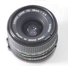 Canon f/2.8 1:2.8 28mm FD Wide Angle Lens AE1 A1 F1 AV1 AL1 AT1 T50 T70 Good Con