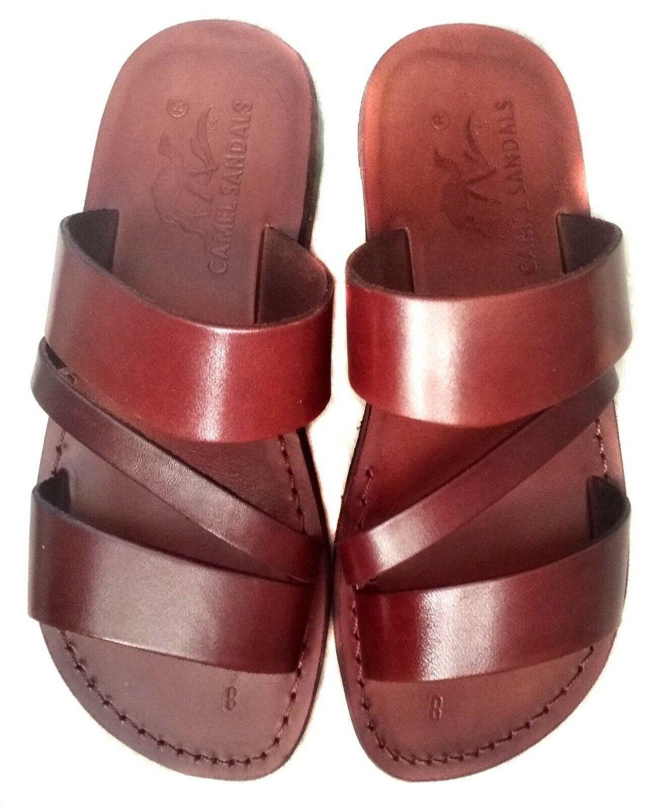 Camel Jesus Sandals Genuine Leather Greek Roman For Men shoes UK 4-12 Model 9
