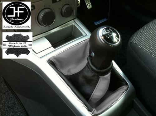 Gris noir s/' adapte Opel Vauxhall Astra H Mk5 mkv stick gear gaiter cuir