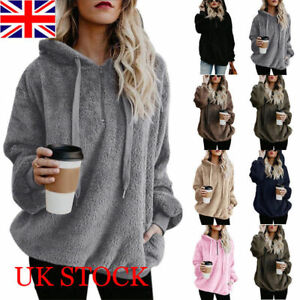 Womens-Warm-Fleece-Hooded-Sweatshrit-Hoodies-Ladies-Winter-Jumper-Tops-Plus-Size