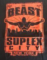 The Beast Brock Lesnar Suplex City York Go To Hell Tour Shirt S Wwe Wwf Ufc