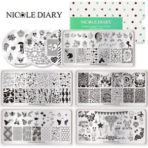 NICOLE-DIARY-Nail-Art-Stamping-Plates-Butterfly-Animals-Stamp-Printing-Templates