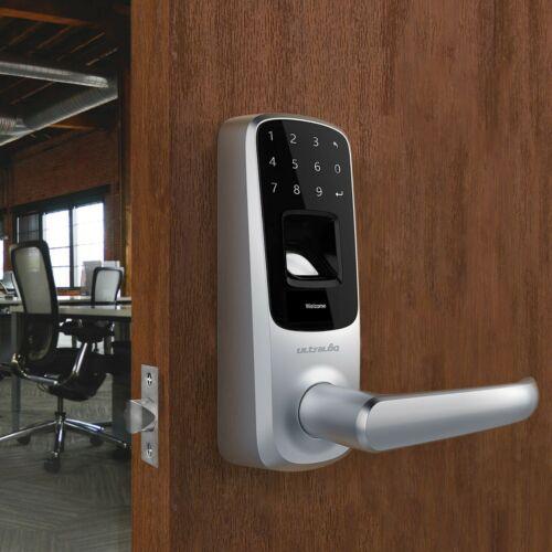 Ultraloq UL3 BT Fingerprint Touchscreen Keyless Smart Door Lock Satin Nickel