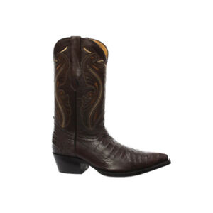 pelle Western Womens in Indiana Cowboy vera Mid New Boots Toe Stitch Brown Grinders R684nwqqY